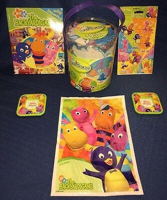 LOT Backyardigans TONS of Stickers 2 Magnet Photo Frames Activity Book Party Bag