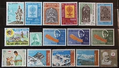 Nepal Collection, MNH OG, Complete Sets Etc., All Never Hinged