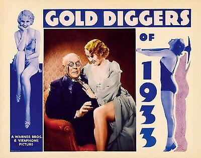 GOLD DIGGERS OF 1933 * BUSBY BERKELEY * JOAN BLONDELL * 11x14 LC print 1933