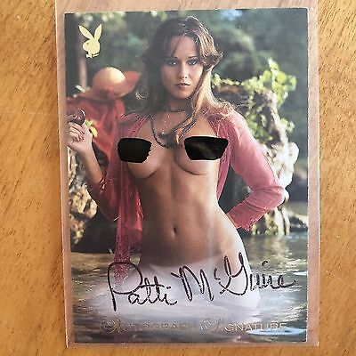 Playboy Trading Card Playmate Of The Year Autograph Patti McGuire