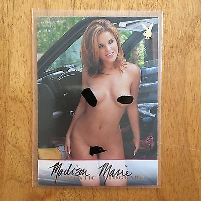 Playboy Trading Cards College Girls Autograph Madison Marie