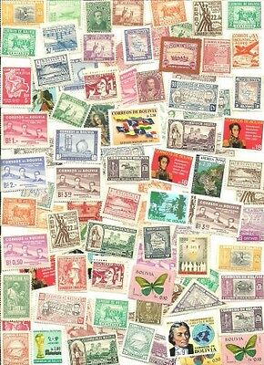 Bolivia Collection Pulled from Stamp Hoard 91 Mint Mostly Different