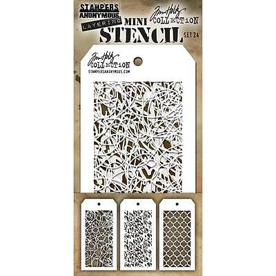 Tim Holtz Mini Layering Stencil ~ SET 24 ~ THMST024 ~ Stampers Anonymous