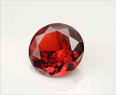 Pomegranate Red Sapphire 3.24Ct 8MM Round CUT AAAAA Loose Gemstone