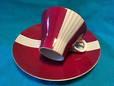 Retro Noritake Maroon  Cup And Plate No Saucer