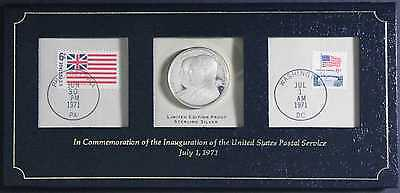 1971 Limited Proof Sterling Silver Commemorative Coin Postage Inauguration