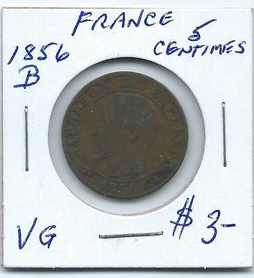 France 1856B 5 Centimes