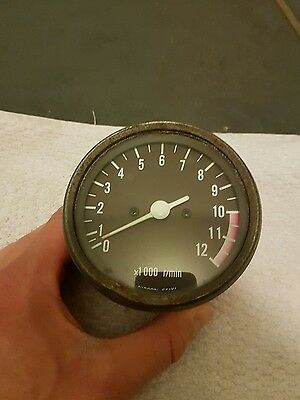 Suzuki GS750 GS 750 1977 Tachometer Tacho  Rev Counter RPM Clock Dial Guage