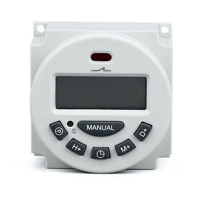 Digital LCD Relay Switch Weekly Programmable Electronic Time Timer -12V/24V/220V