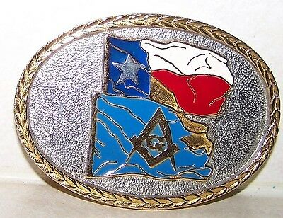 Masons  Belt Buckle  Texas  Pearl Harbor Commemmorative  Limited Ed #618  Custom