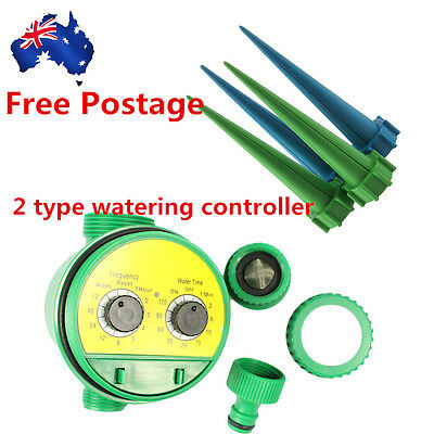 New Automatic Water Timer Garden Watering Irrigation System Controller Plant B^^