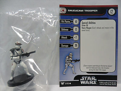 Saleucami Trooper,Champions Of The Force 37/60 Star Wars Miniatures COTF