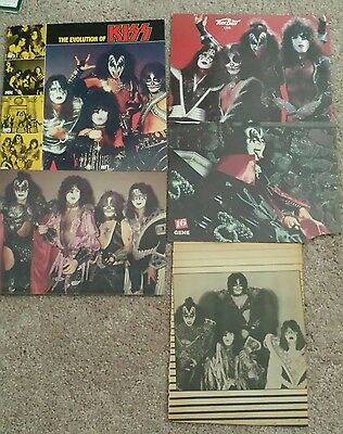 Vintage Kiss posters Teen Beat, 16 and Evolution of Kiss insert, Rock& Roll Over
