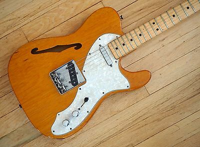 1969 Fender Telecaster Thinline Vintage Electric Guitar Mahogany Tele w/ohsc