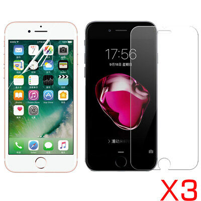 3X Tempered Glass Soft PET Screen Protector Film For Apple iPhone 8 iPhone 7