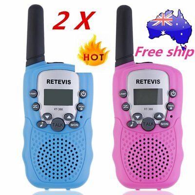 2x RT-388 Walkie Talkie 0.5W 22CH Two Way Radio For Kids Children Gift NEW A^^