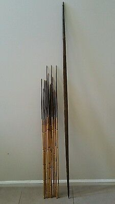 Old Papua New Guinea PNG Bow & 12 Arrows (Spears) Tribal Vintage