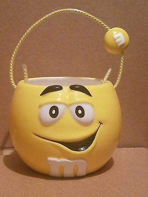 Galerie M&M's Yellow M&M Collectible Ceramic Candy Dish Bowl Basket