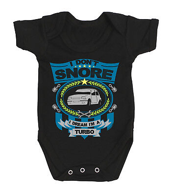 Boys/Girls Car Baby Grow - I don`t snore I dream I`m a TURBO Renault 5 GT  Vest