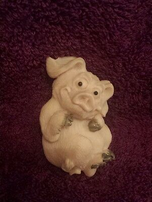 Piggin' Roly Poly Magnet 1997 David Corbridge - Rare