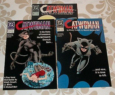 Catwoman #2,3 and 4 of a 4ish mini series 1989, very fine to near mint shape