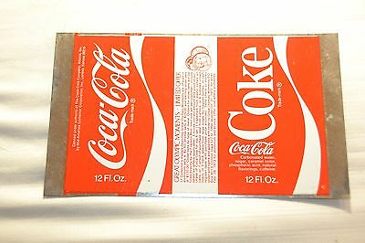 Coca-Cola Coke Unrolled Flat Sheet Soda Can