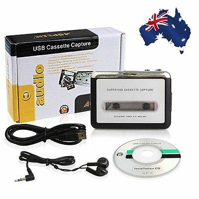 Tape to PC MP3 Ipod CD USB Cassette-to-MP3 Converter Capture Audio Music Player^
