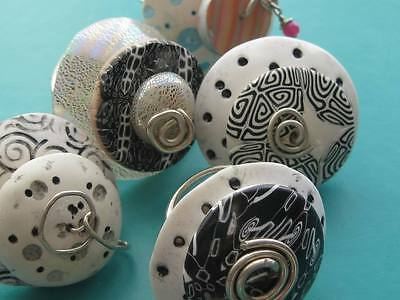 Handcrafted one of a kind Polymer and Sterling Silver RINGS Quirky and chunky