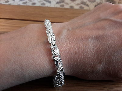 Brand new Silver 925 stamped chunky  Bracelet + gift Box