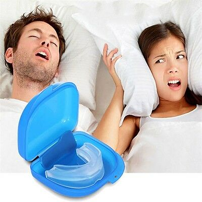 Mouth Guard Stop Teeth Grinding Anti Snoring Bruxism with Case Box Sleep Aid A^^