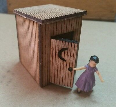 O scale laser cut  outhouse kit