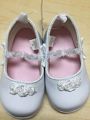 Nwt First Impressions Baby Girl White Patten Mary Jane Shoes Size 3