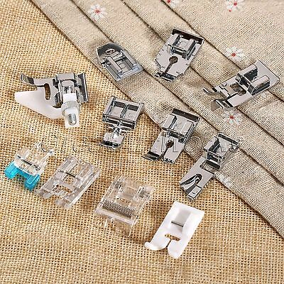 Generic Snap on Feet Foot Stitch Presser for Brother Singer Sewing Machine 11pcs
