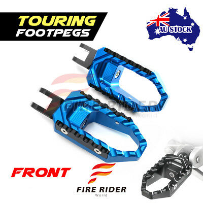 For Honda CB900F Hornet 2002-07 02 03 04 FRW Blue CNC Touring Front Footpegs AU