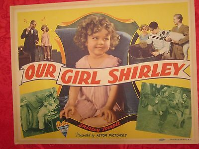 Our Girl Shirley (1942) Shirley Temple Rare Original Title Lobby Card