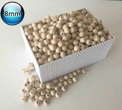 250 X 8mm Natural Wood Bead Unpainted Unfinished round Wooden Beads Spacer Ball