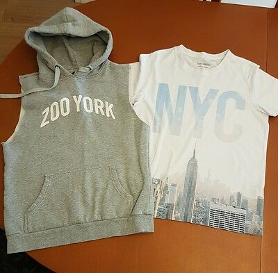 Boys Zoo york top and Just Jeans t-shirt size 14
