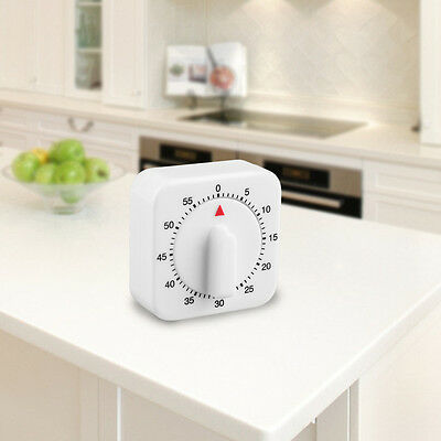 Square 60 Minute Mechanical Kitchen Cooking Timer Food Preparation Baking C^^