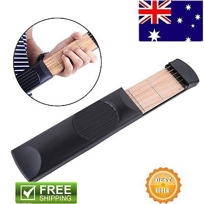 Musical Instrument Portable Pockets Acoustic Guitar Practice Tool For Beginner ^
