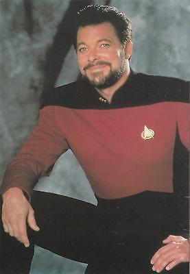 Star Trek TNG The Next Generation 1991 Will Riker postcard 105-150