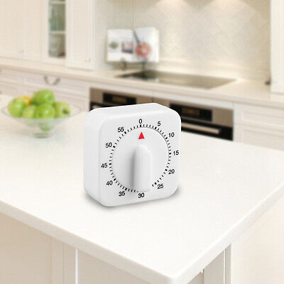 Square 60 Minute Mechanical Kitchen Cooking Timer Food Preparation Baking A^^