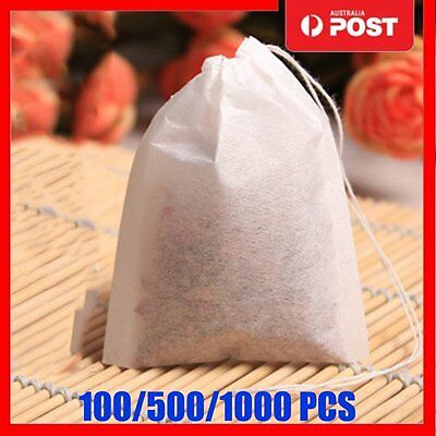 100/500/1000 PCS Empty Teabags String Heat Seal Filter Paper Herb Loose Tea Bags