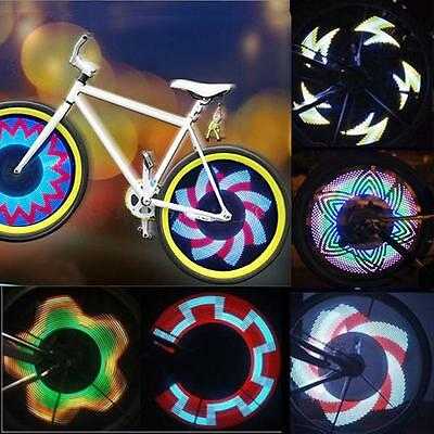 32 LED Patterns Cycling Bikes Bicycles Rainbow Wheel Signal Tire Spoke Light A^^