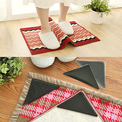 4/8/12 Pcs Practical Rug Gripper Carpet Mat Grip All Floor Types Anti Skid Tape