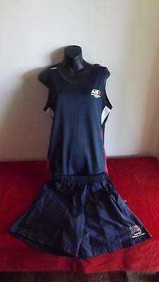 Australian Institute Of Sport Tank Top And Shorts Size S Great Cond