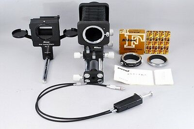 【N Mint!!】NIKON PB-4 Bellows Focusing attachment and PS-4 adapter w/E2,BR2 #1950