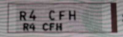 personalised number plate R4 CFH  (R4C FH)