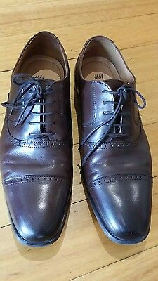 Mens H&M Leather Shoes size 8