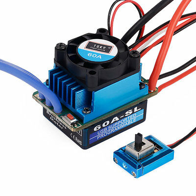 Racing 60A ESC Brushless Electric Speed Controller For 1:10 RC Car Truck C^^