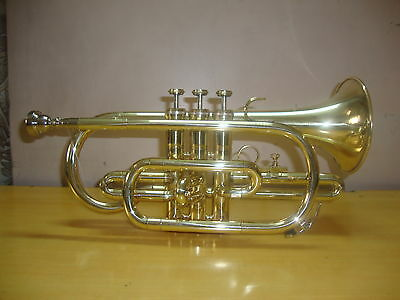 !BUY IT NOW!! NEW BRASS Bb FLAT CORNET TRUMPET+FREE CASE+M/P+5 DAYS DELIVERY